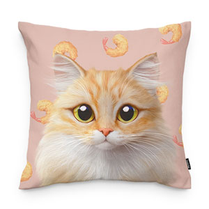 Nova's Fried Shrimp Throw Pillow
