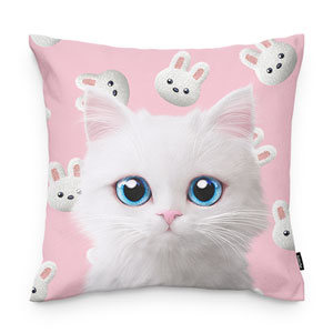 Venus's White Rabbit Throw Pillow