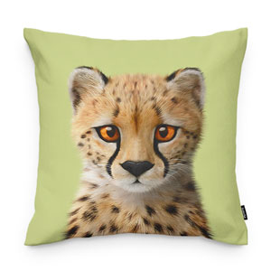 Samantha the Cheetah Throw Pillow