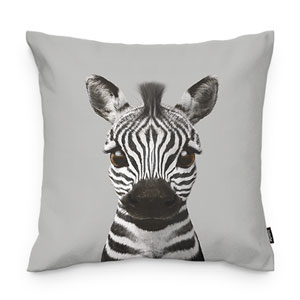 Zebra the Plains Zebra Throw Pillow