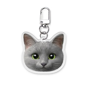 Nami the Russian Blue Face Acrylic Keyring