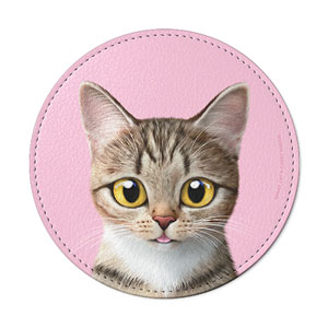 Gisele Leather Coaster