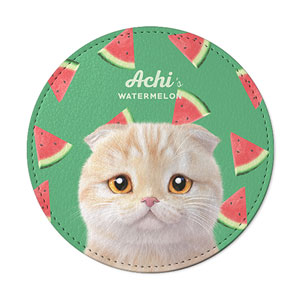 Achi's Watermelon Leather Coaster