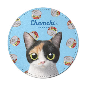 Chamchi's Tuna Can Leather Coaster
