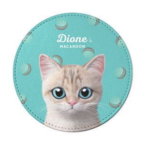 Dione's Macaroon Leather Coaster