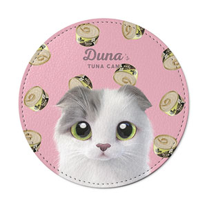 Duna's Tuna Can Leather Coaster
