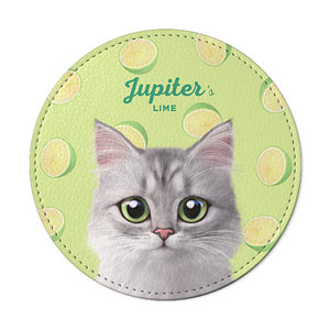 Jupiter's Lime Leather Coaster