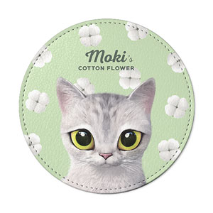 Moki's Cotton Flower Leather Coaster