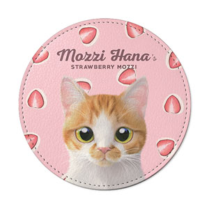Mozzi Hana's Strawberry Mozzi Leather Coaster