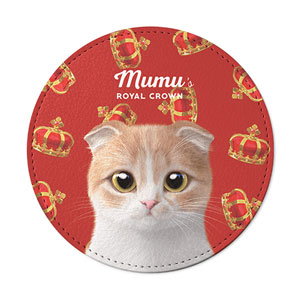 Mumu's Crown Leather Coaster