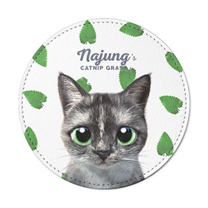 Najung's Catnip Leather Coaster