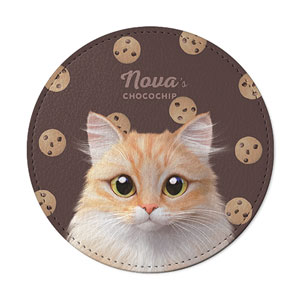 Nova's Chocochip Leather Coaster