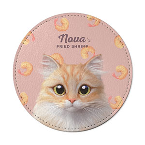 Nova's Fried Shrimp Leather Coaster