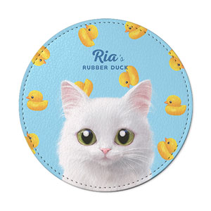 Ria's Rubber Duck Leather Coaster