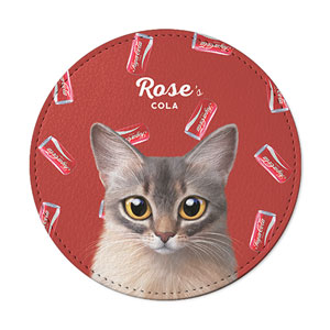 Rose's Cola Leather Coaster