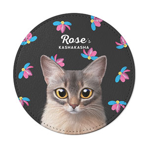 Rose's Kasha Kasha Leather Coaster