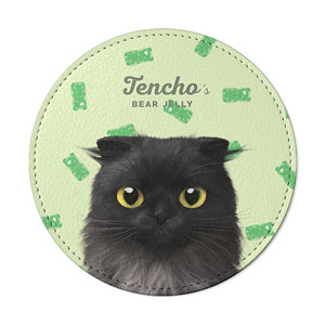 Tencho's Bear Jelly Leather Coaster