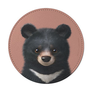 Bandal the Aisan Black Bear Leather Coaster