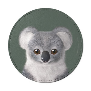 Coco the Koala Leather Coaster