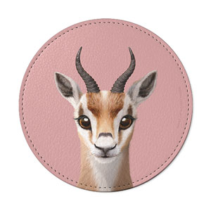 Gazelle the Thomson's Gazelle Leather Coaster