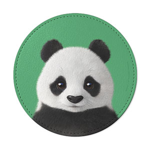 Pang the Giant Panda Leather Coaster