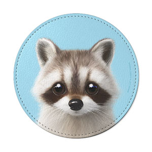 Nugulman the Raccoon Leather Coaster
