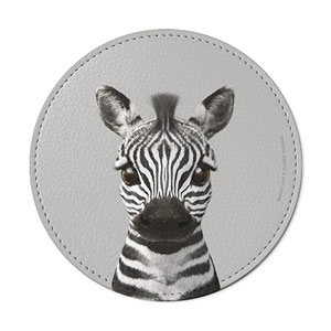 Zebra the Plains Zebra Leather Coaster
