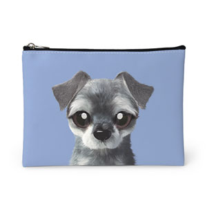 Atom the Schnauzer Leather Pouch