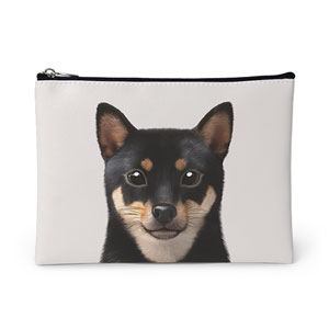 Bate the Shiba Leather Pouch