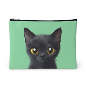 Bingo the Kitten Leather Pouch