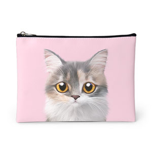 Bori the Munchkin Cat Leather Pouch