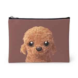 Choco the Poodle Leather Pouch