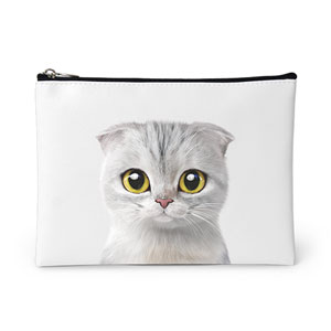 Dubu the Scottish Fold Leather Pouch