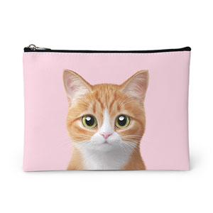 Hobak the Cheese Tabby Leather Pouch