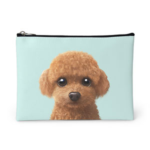 Hodoo the Poodle Leather Pouch