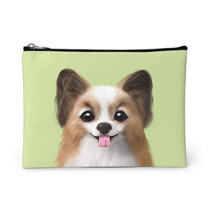 Jerry the Papillon Leather Pouch