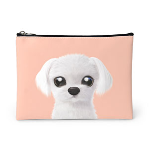 Kkoong the Maltese Leather Pouch
