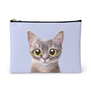 Leo the Abyssinian Cat Leather Pouch