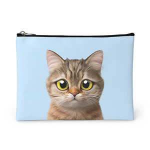 Leo the British Shorthair Leather Pouch