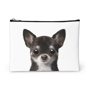 Leon the Chihuahua Leather Pouch