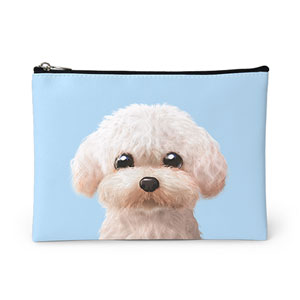 Maya the Poodle Leather Pouch