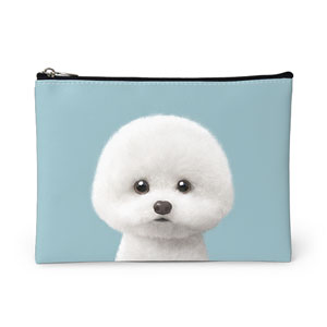 Dongle the Bichon Leather Pouch