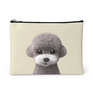 Earlgray the Poodle Leather Pouch