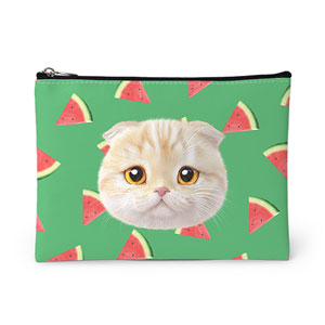 Achi's Watermelon Face Leather Pouch
