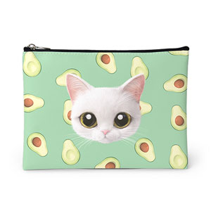 Danchu's Avocado Face Leather Pouch