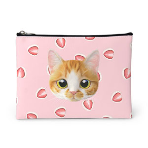Mozzi Hana's Strawberry Mozzi Face Leather Pouch