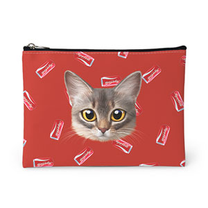 Rose's Cola Face Leather Pouch