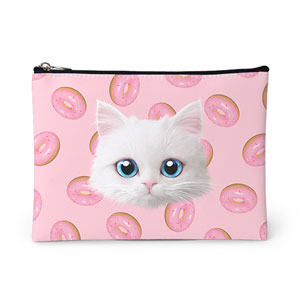 Venus's Donuts Face Leather Pouch