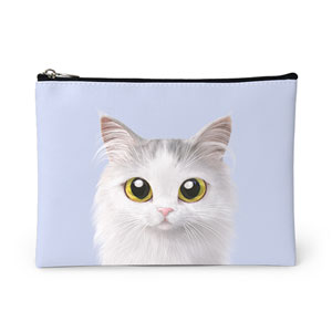 Rangi the Norwegian forest Leather Pouch