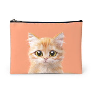 Raon the Kitten Leather Pouch